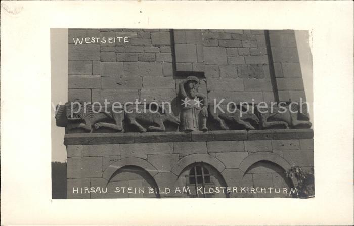 Hirsau Steinbild Klosterkirchturm Westseite Kat. Calw