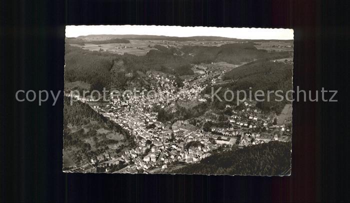 Schramberg Fliegeraufnahme Fuenftaelerstadt Kat. Schramberg