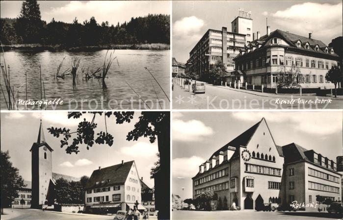 Villingen Schwenningen Neckarquelle Kienzle Uhrenfabrik  Kat. Villingen Schwenningen