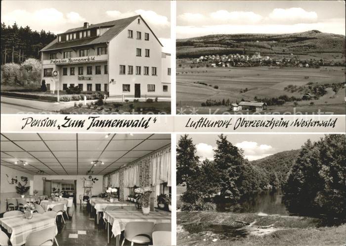 Oberzeuzheim Pension Zum Tannenwald  Kat. Hadamar