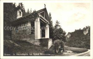 Beuron Donautal St. Mauruskapelle mit Schloss Wildenstein / Beuron /Sigmaringen LKR