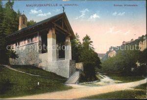 Beuron Donautal Mauruskapelle mit Schloss Wildenstein / Beuron /Sigmaringen LKR