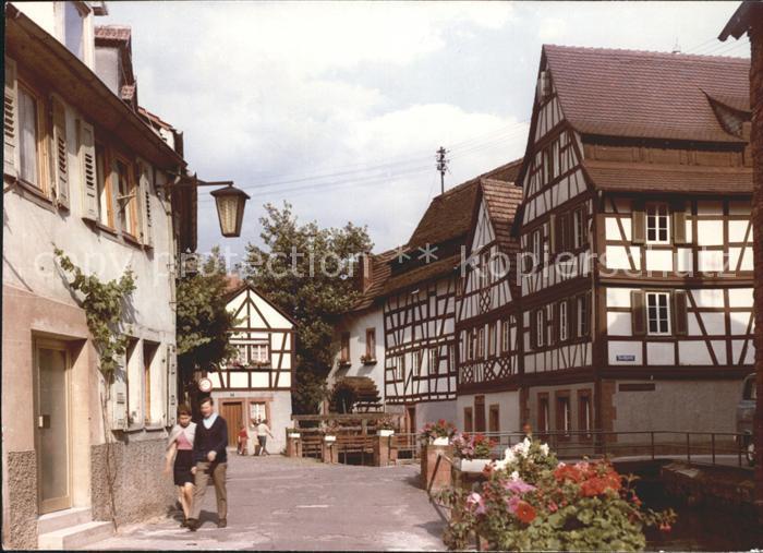 Annweiler Trifels Ortspartie Fachwerk / Annweiler am Trifels /Suedliche Weinstrasse LKR