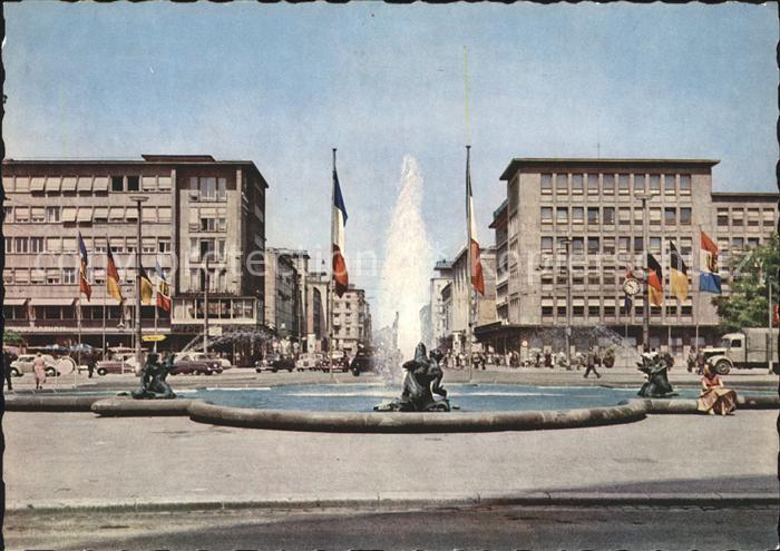 Mannheim Wasserspiel am Friedrichsplatz Kat. Mannheim
