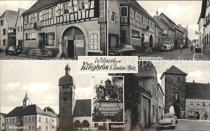 Billigheim Ingenheim Hauptstrasse Obertor Marktplatz Kat. Billigheim Ingenheim