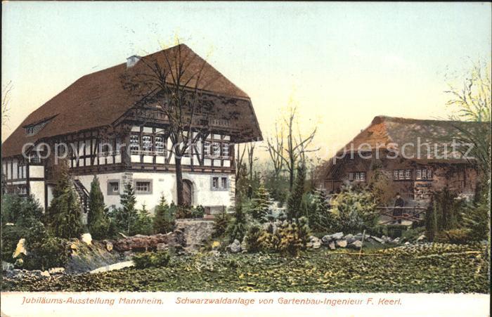 ansichtskarte mannheim 1907 kunstausstellung gartenbau. Black Bedroom Furniture Sets. Home Design Ideas