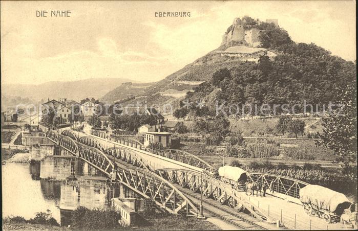 Bad Muenster Stein Ebernburg Nahe Bruecke mit Ebernburg / Bad Muenster am Stein-Ebernburg /Bad Kreuznach LKR