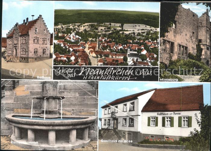 Neunkirchen Mosbach Minneburg Gasthaus zur Rose Rathaus Kat. Neunkirchen
