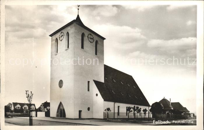 Fellbach Pauluskirche Kat. Fellbach