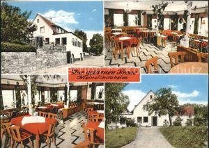 Kleineicholzheim Gasthaus Pension Zur goldenen Krone  Kat. Schefflenz