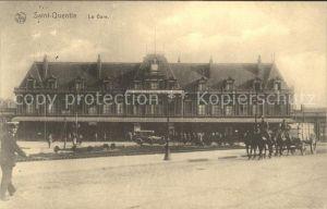 Saint Quentin l Aisne Gare Pferdewagen Kat. Saint Quentin