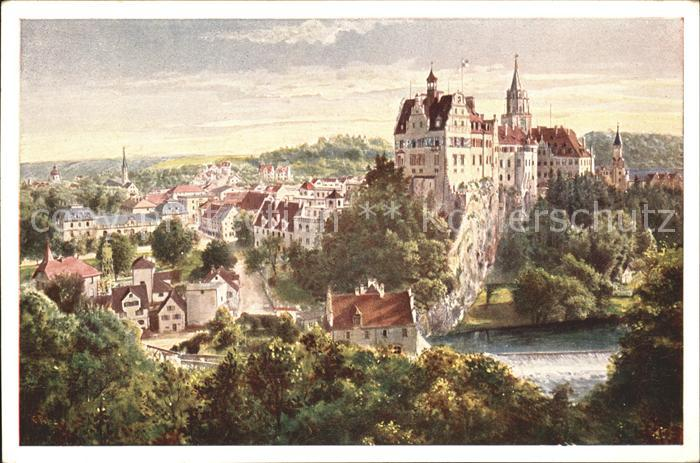 Sigmaringen Schloss Sigmaringen  Kat. Sigmaringen