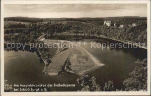 Bleilochtalsperre Schloss Burgk Ausgleichsbecken Kat. Schleiz