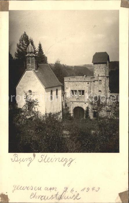 Steinegg Enzkreis Burg Steinegg  / Neuhausen /Enzkreis LKR
