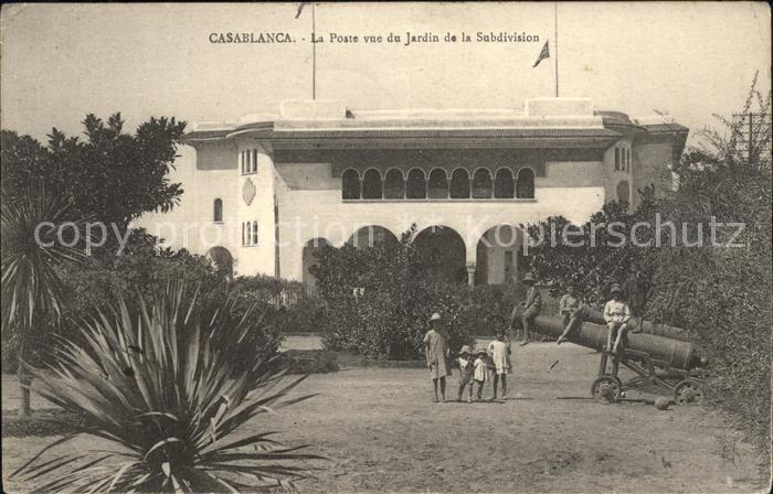 Casablanca La Poste vue du Jardin de la Subdivision Kat. Casablanca