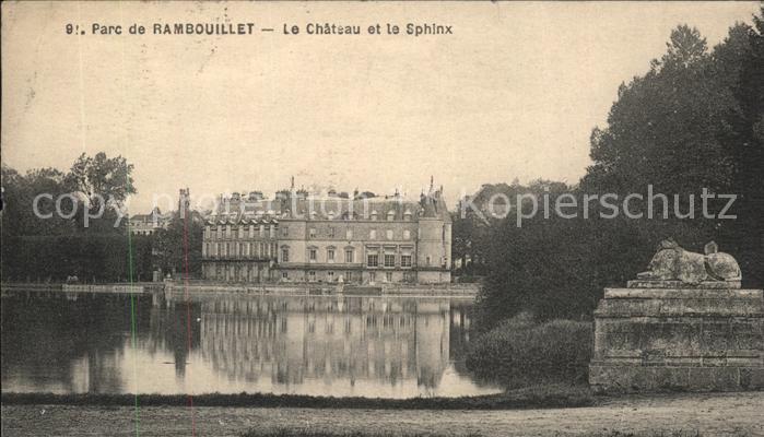 Rambouillet Chateua et le Sphinx Kat. Rambouillet