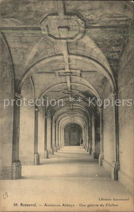 Bonneval d Eure et Loir Ancienne Abbaye galerie  Kat. Bonneval