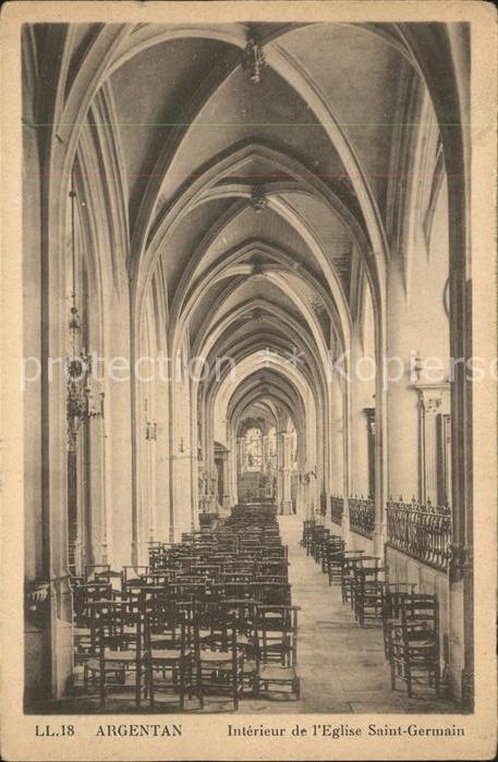 Argentan Interieur de Eglise Saint Germain Kat. Argentan
