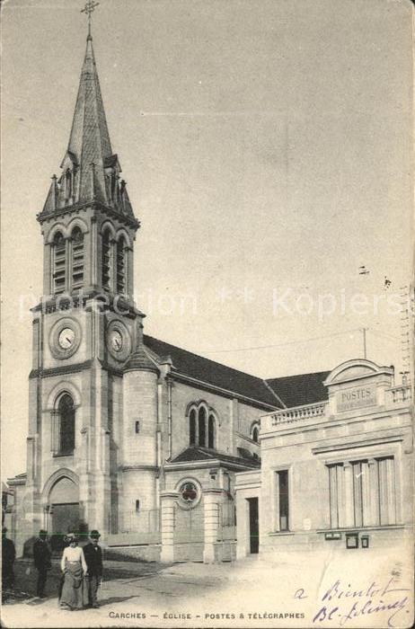 Garches Eglise Postes et Telegraphes Kat. Garches