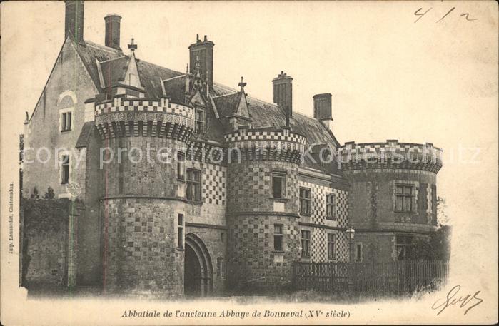 Bonneval d Eure et Loir Abbatiale de l ancienne Abbaye de Bonneval Kat. Bonneval