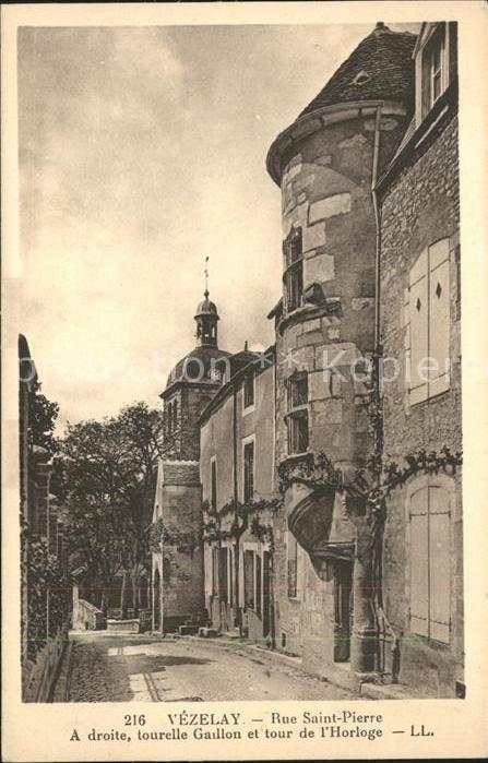 Vezelay Rue Saint Pierre Kat. Vezelay