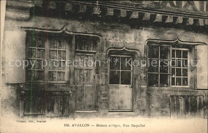 Avallon Maison antique Rue Boquillot Kat. Avallon