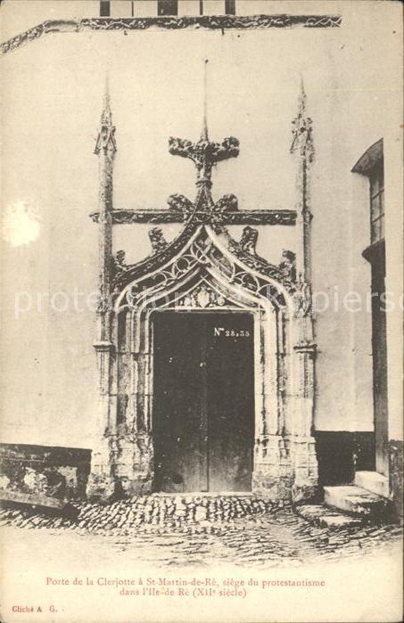 Saint Martin de Re Porte de la Clerjotte  Kat. Saint Martin de Re