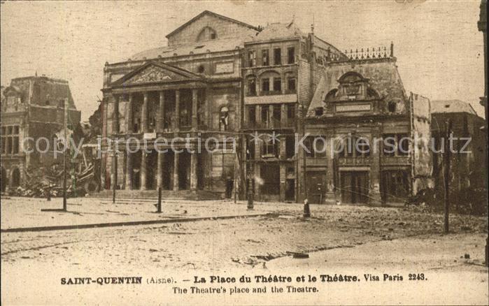 Saint Quentin La Place Theatre  Kat. Saint Quentin