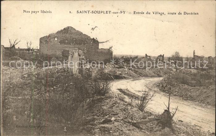 Saint Souplet sur Py Entree du Village Kat. Saint Souplet sur Py