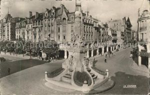 Reims Champagne Ardenne Place Erlon fontaine Sube Kat. Reims