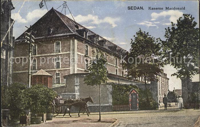 Sedan Ardennes Kaserne Macdonald Pferd Kat. Sedan