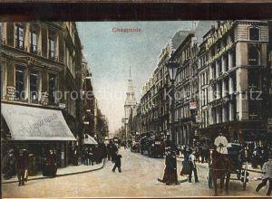 London Cheapside Pferdekutsche Kat. City of London