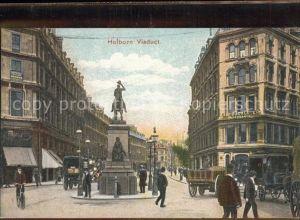 London Holborn Viaduct Monument Pferdekutsche Kat. City of London