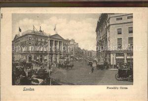 London Piccadilly Circus Pferdekutsche Kat. City of London