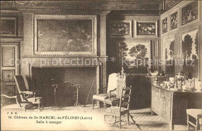 ak th oule villa saint camille salle manger nr 6583075 oldthing ansichtskarten benelux. Black Bedroom Furniture Sets. Home Design Ideas