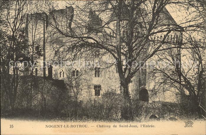 Nogent le Rotrou Chateau de Saint Jean Kat. Nogent le Rotrou