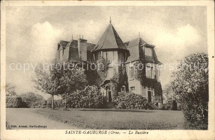 Sainte Gauburge Sainte Colombe La Bussiere Chateau Kat. Sainte Gauburge Sainte Colombe