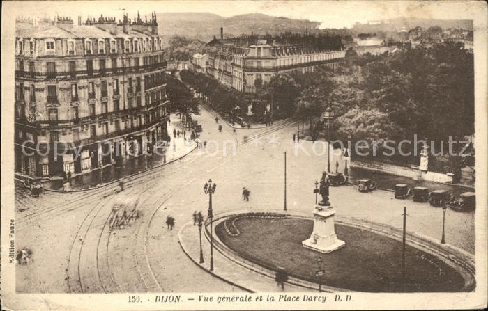 Dijon Cote d Or Vue generale et Place Darcy Monument Kat. Dijon