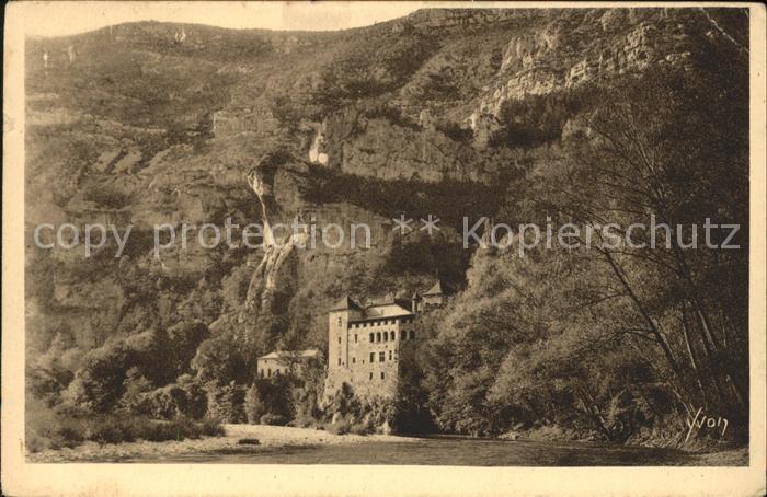 Sainte Enimie Chateau de La Caze XV siecle Gorges du Tarn Kat. Sainte Enimie