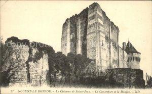 Nogent le Rotrou Chateau de Saint Jean Contrefront et Donjon Kat. Nogent le Rotrou