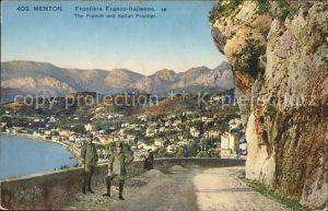 Menton Alpes Maritimes Frontiere Franco Italienne Kat. Menton