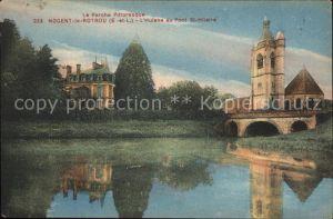 Nogent le Rotrou Huisne au Pont Saint Hilaire Kat. Nogent le Rotrou