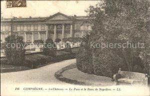 Compiegne Oise Chateau Parc et Banc de Napoleon Kat. Compiegne