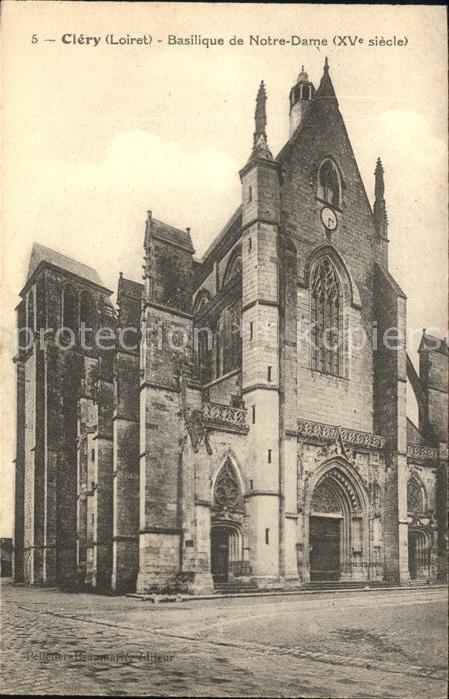 Clery Saint Andre Basilique de Notre Dame XVe siecle Kat. Clery Saint Andre