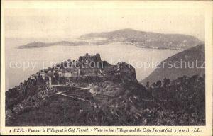 Eze Alpes-Maritimes Vue panoramique et Cap Ferrat Cote d'Azur / Eze /Arrond. de Nice