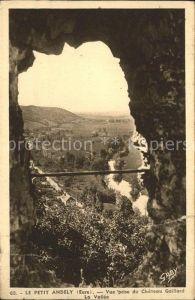 Les Andelys Petit Andely vue prise du Chateau Gaillard Vallee Kat. Les Andelys