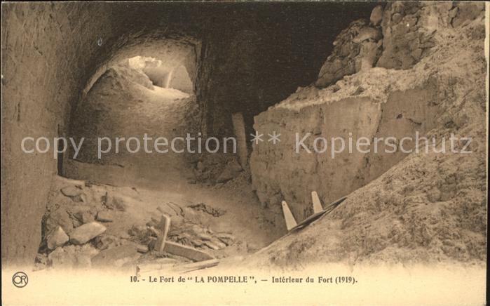 Reims Champagne Ardenne Interieur du Fort de La Pompelle Kat. Reims