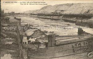 Berry au Bac La Cote 108 et Canal de l Aisne Kat. Berry au Bac