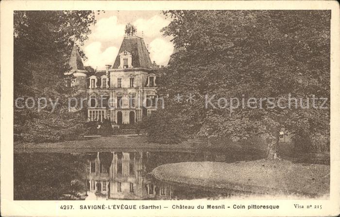 Savigne l Eveque Chateau du Mesnil Etang Kat. Savigne l Eveque