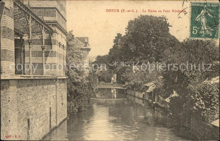 Dreux La Blaise au Pont Metezeau Stempel auf AK Kat. Dreux